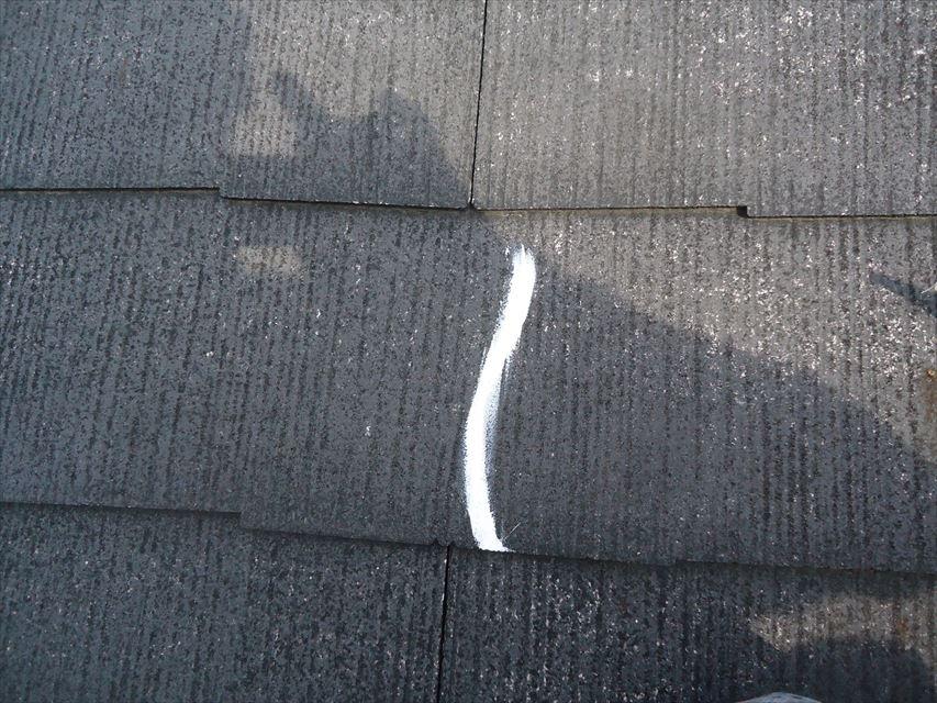 多治見市屋根瓦ひびコーキング