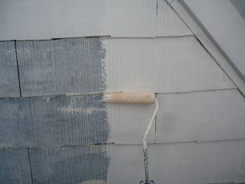 多治見市屋根下塗り2回目