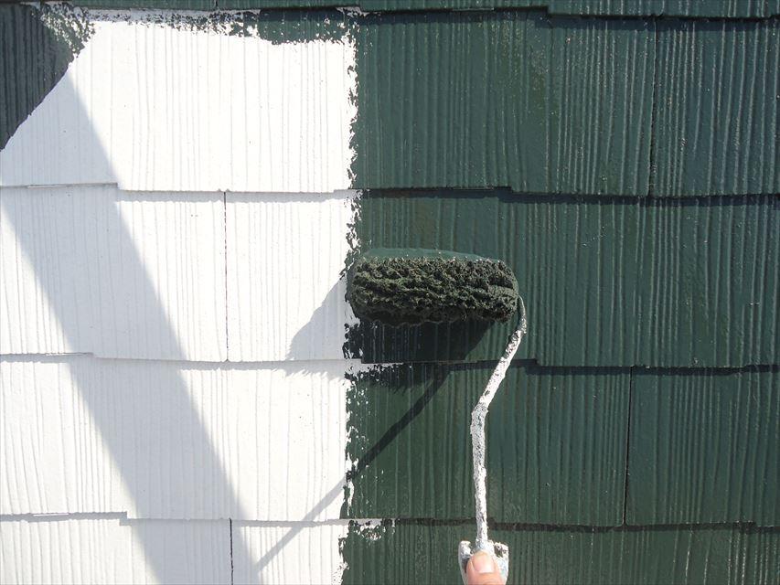 多治見市屋根中塗り