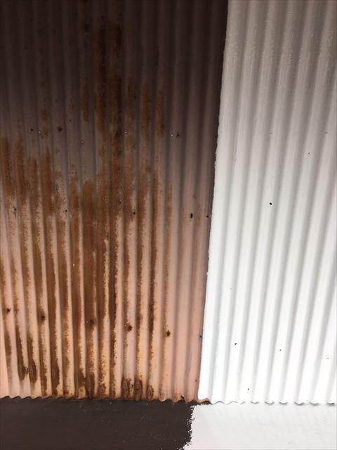 可児市トタン壁錆止め