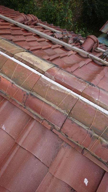 土岐 多治見 屋根の頂上のポロポロ 漆喰の補修