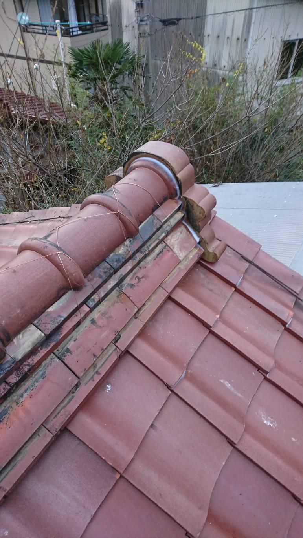 多治見 土岐 屋根のリフォーム 和瓦葺き 瓦の積みなおし