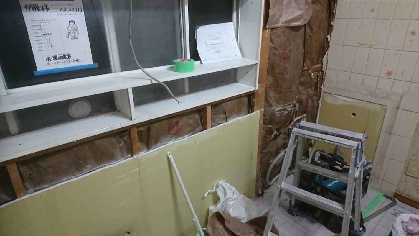 多治見 キッチンのリフォーム システムキッチン パネルできれい