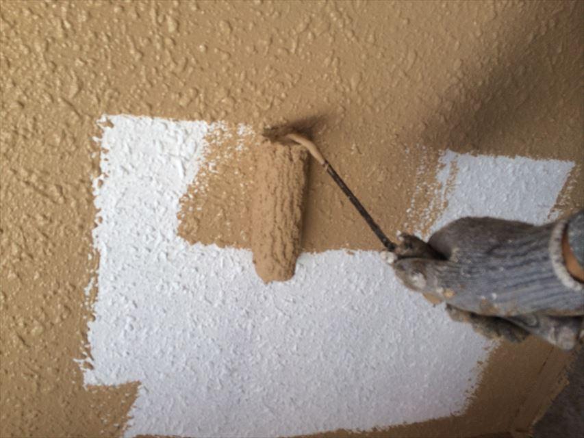 可児市外壁中塗り