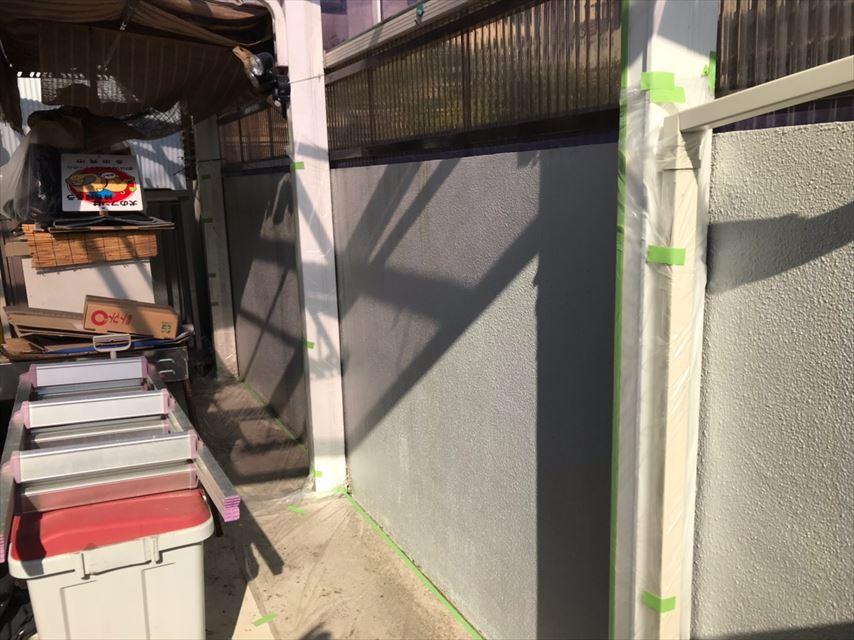多治見市塀塗り替え養生