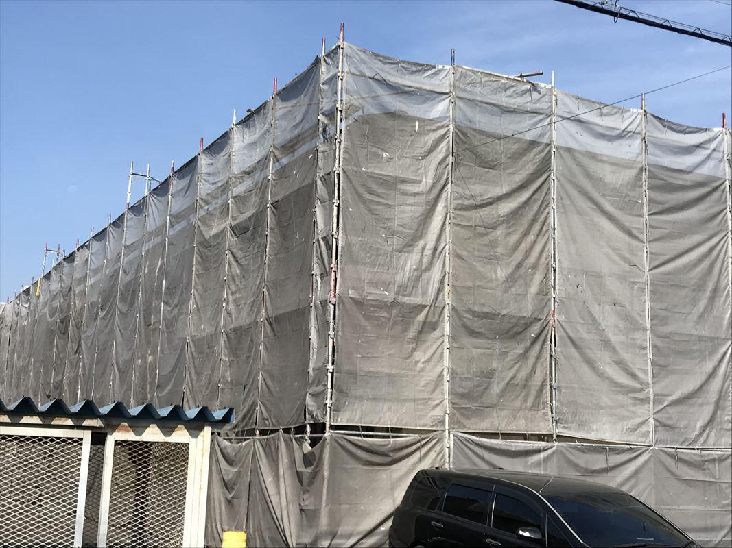 多治見 土岐 外壁塗り替え 塗装のための足場組み