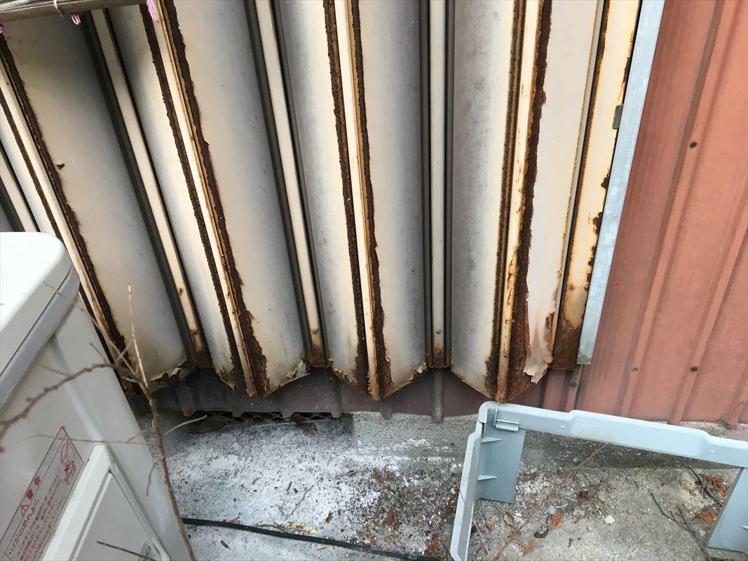 多治見市 トタンの塗り替え 雨戸の塗装