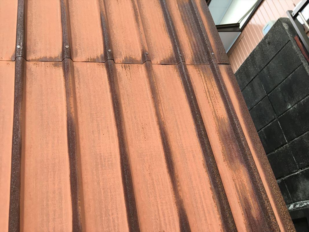 多治見市 外壁トタンの塗り替え 錆止めの特殊塗料