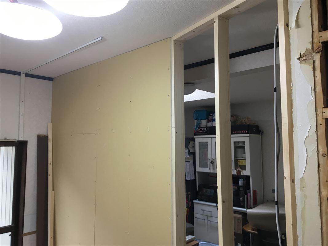 多治見市 大工工事 内装リフォーム お部屋を分ける