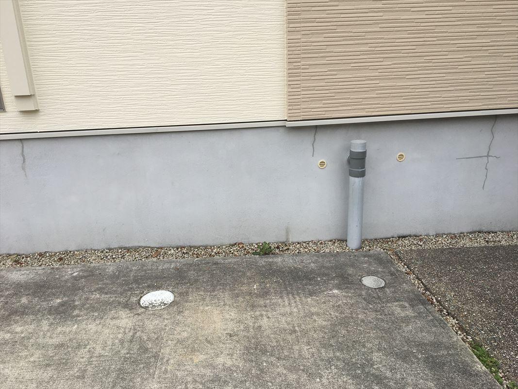 多治見市 外壁塗り替え 基礎にコーキング処理