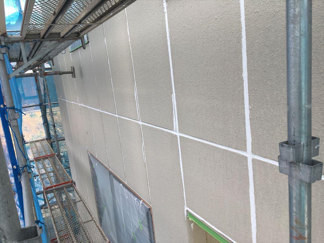 恵那市 外壁塗り替え 目地のコーキング 下地処理