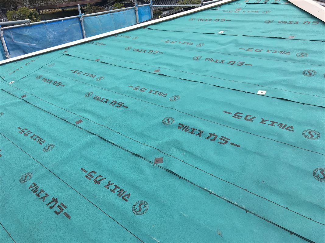 恵那市 屋根工事 屋根のカバー工法 板金工事