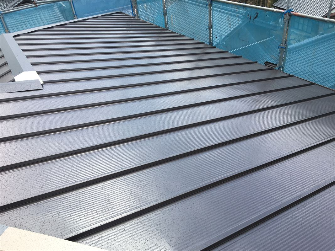 恵那市 屋根のリフォーム 金属板金屋根 カバー工法