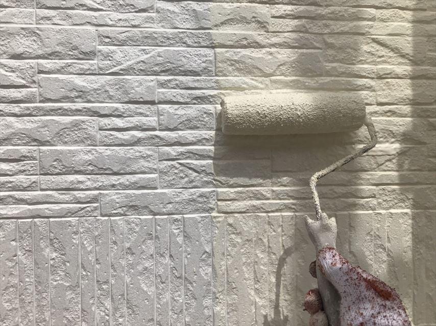 多治見市外壁中塗りガイナ
