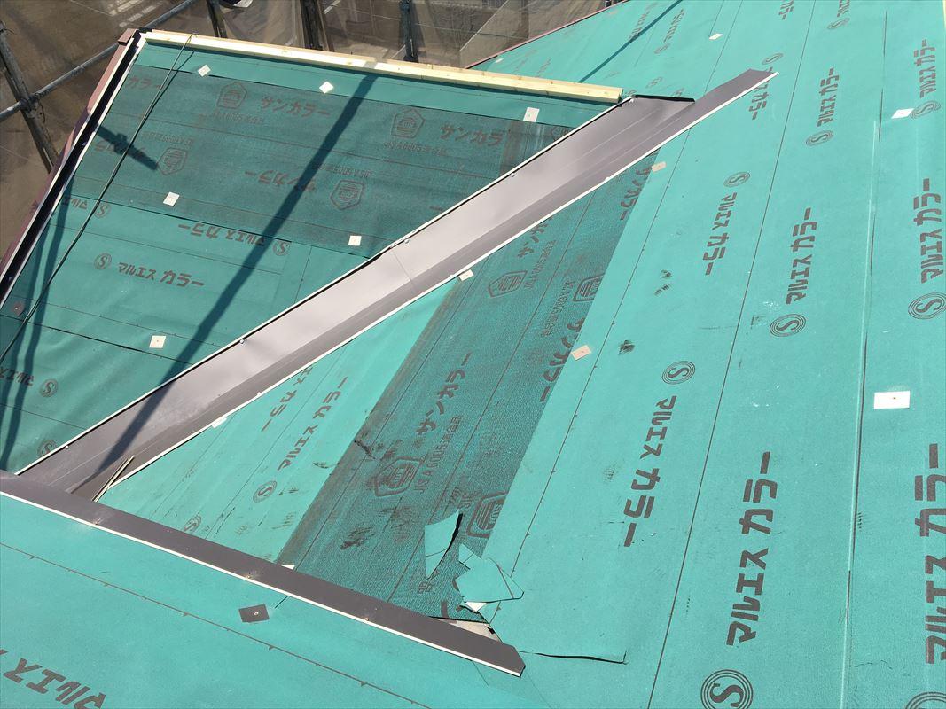 多治見市 板金工事 屋根に板金屋根 屋根リフォーム