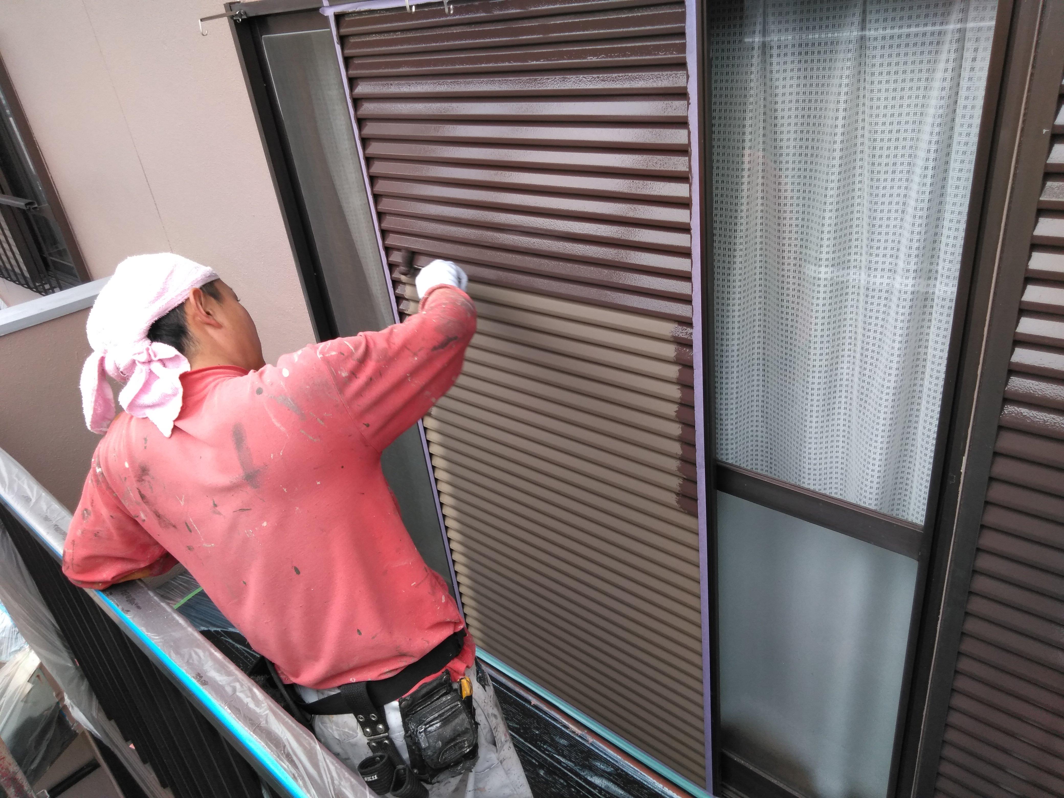 多治見 外壁塗装 雨戸、付帯部塗装