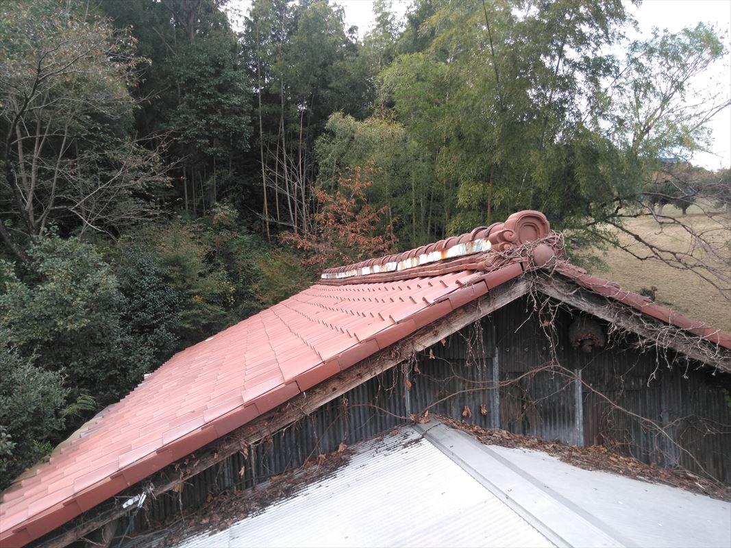 土岐 屋根の補修 棟の積み替え 屋根の頂上