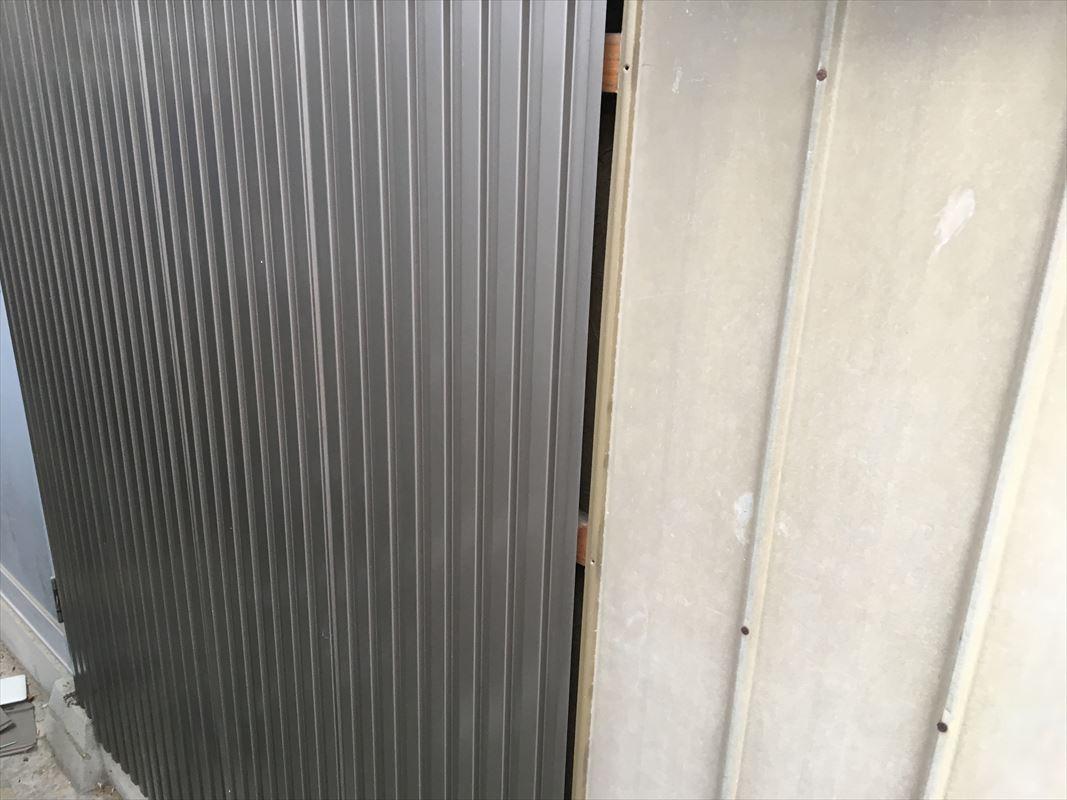多治見市 鉄の外壁の張り替え ガルバ張り