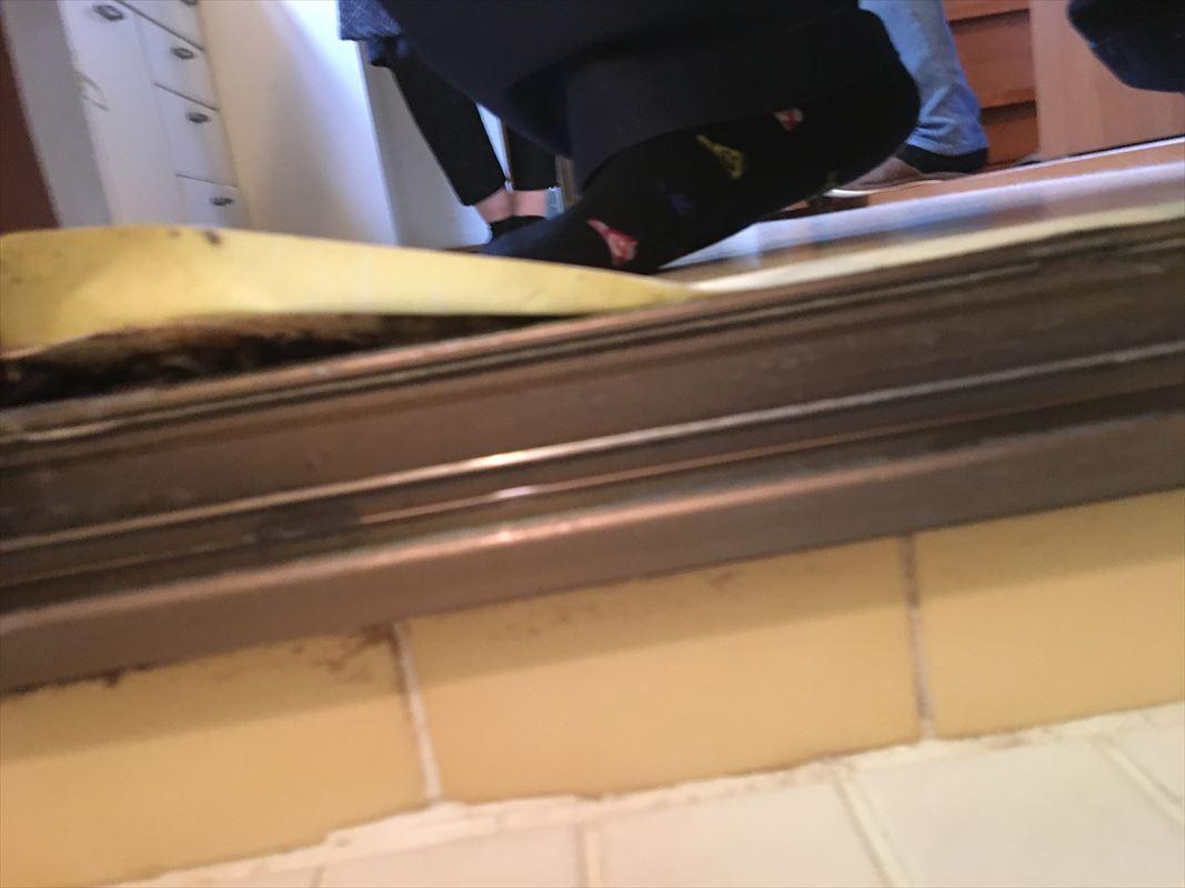 多治見市 風呂の入口の床補修 脱衣場の床がフワフワする