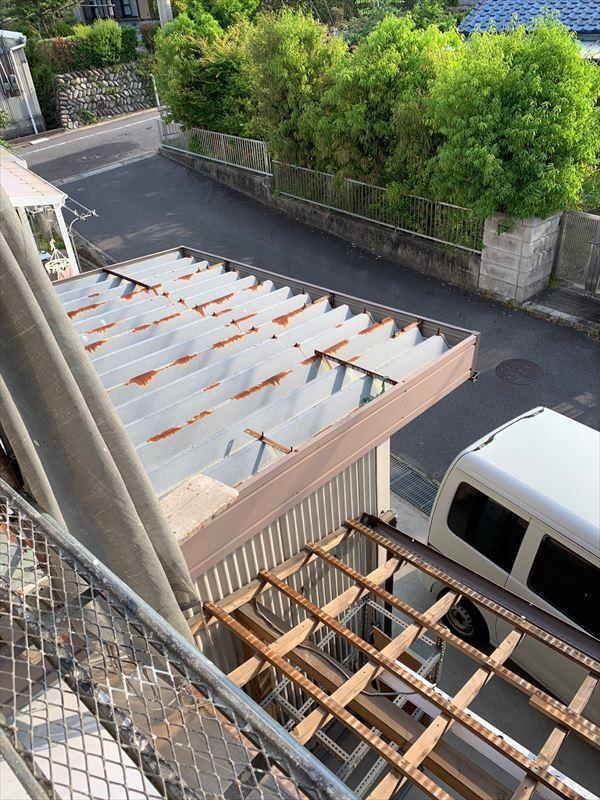 多治見市 Vセッパンの塗装 車庫の屋根の塗装