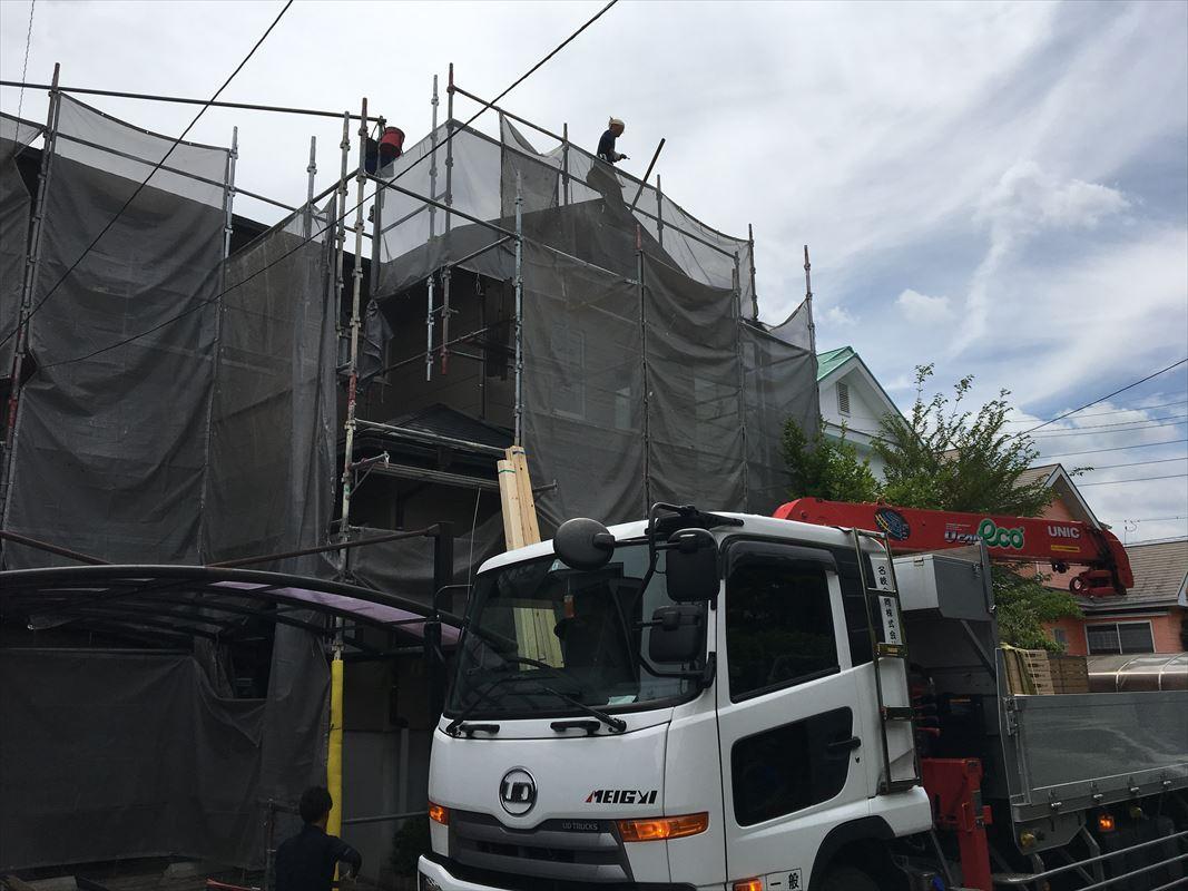 多治見市 屋根の葺き替え工事 カラーベストをガルバリウムの屋根に変更
