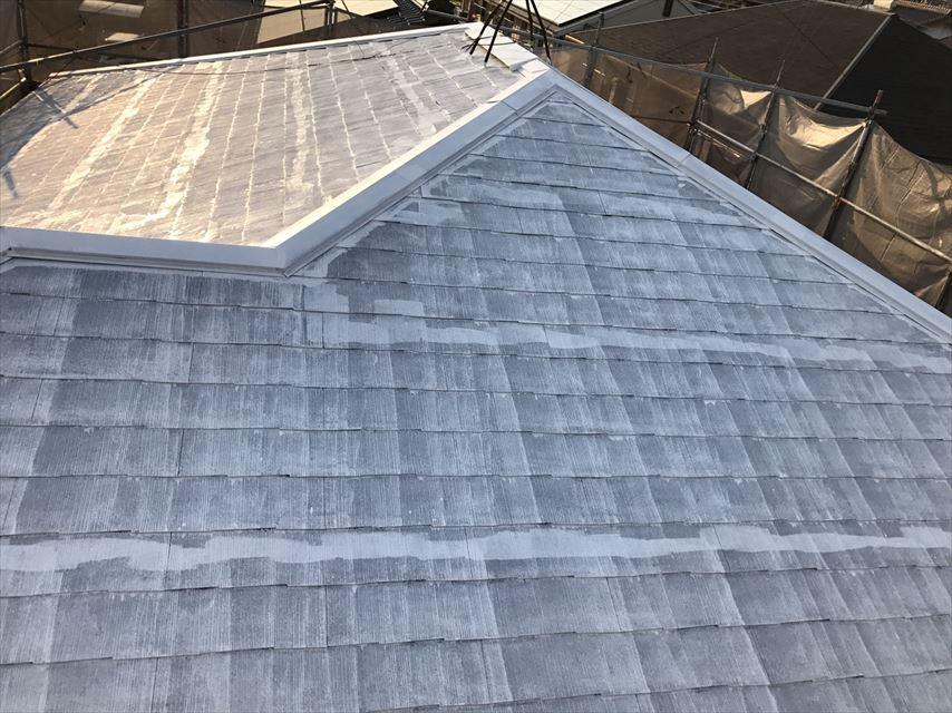 多治見市スレート屋根下塗り