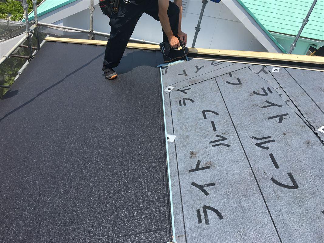 多治見市 屋根の工事 断熱材付きの屋根材