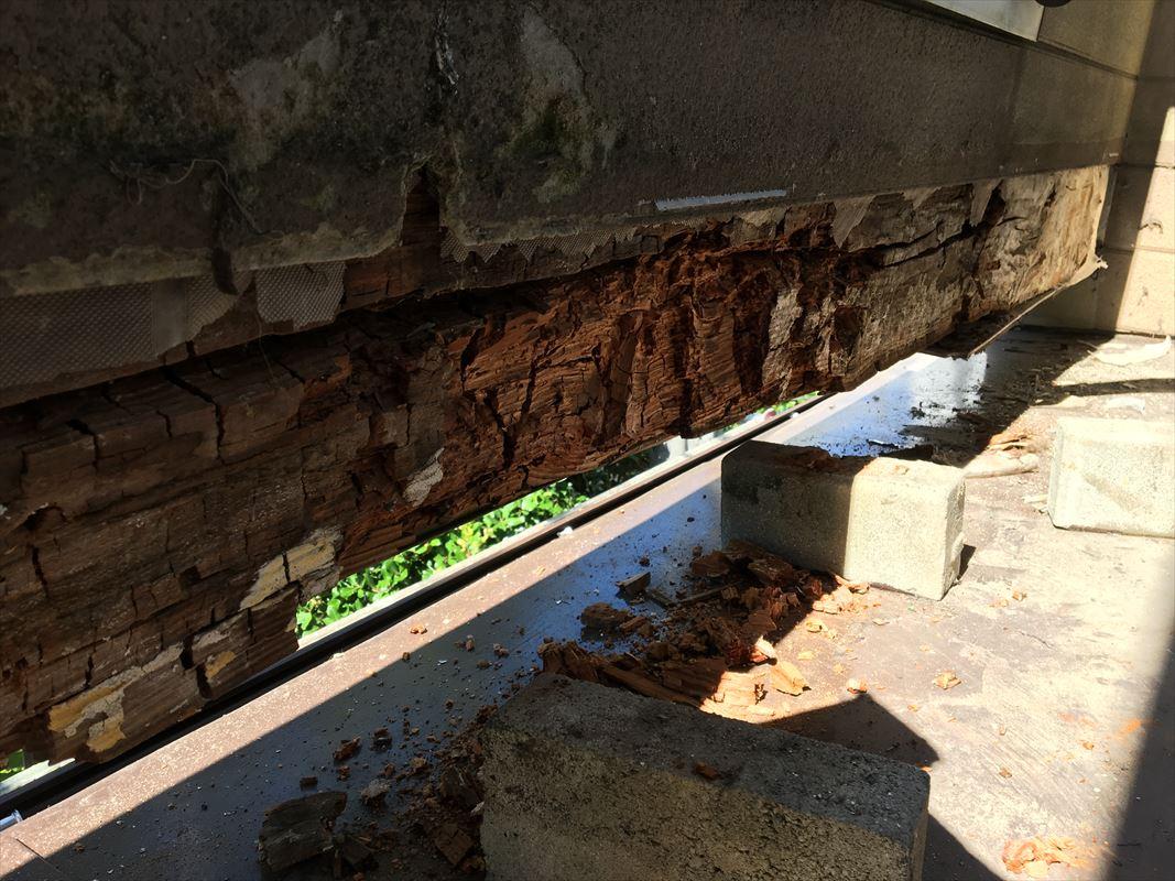 多治見市 土岐市 ベランダの復旧 外壁の張り直し