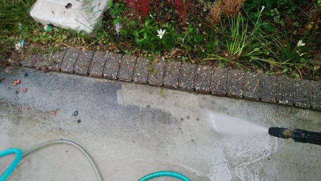 恵那市で駐車場バイオ洗浄