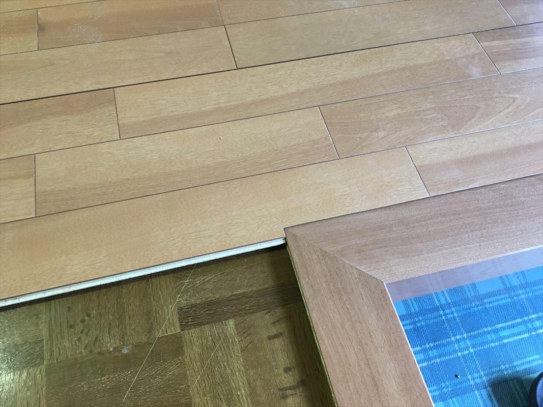 多治見市 床の重ね張り 床の補修工事 玄関かまち