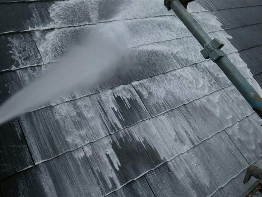 多治見市西坂中神屋根バイオ洗浄泡