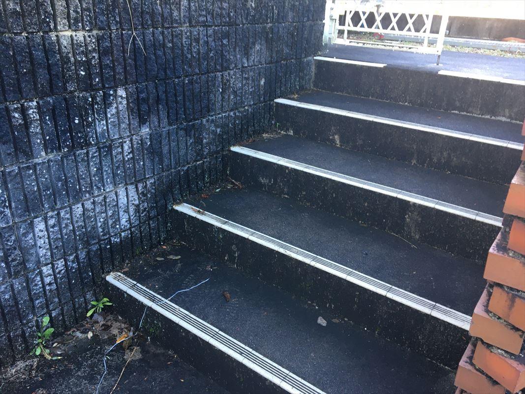 可児市 外構の洗浄 ブロック塀やアプローチの洗浄