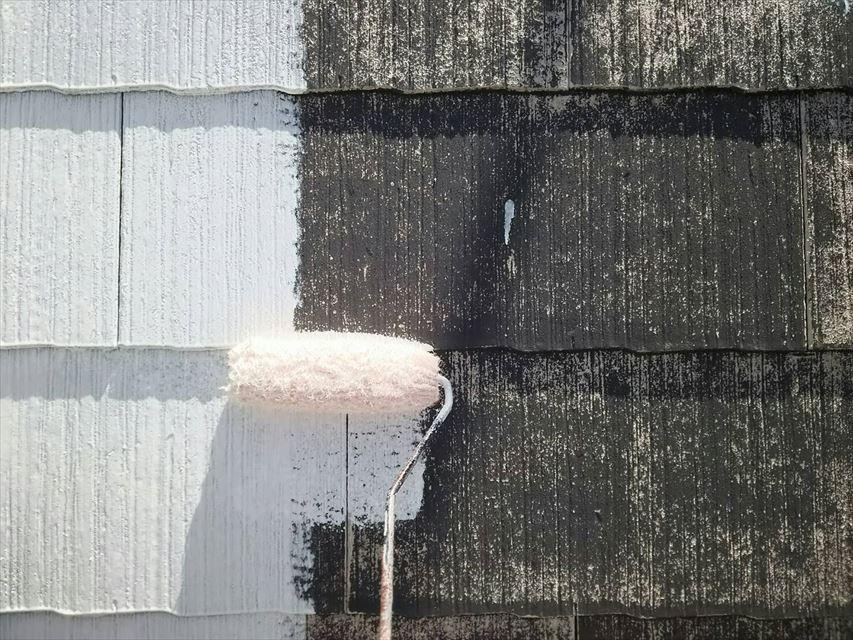 多治見西坂中神屋根下塗り