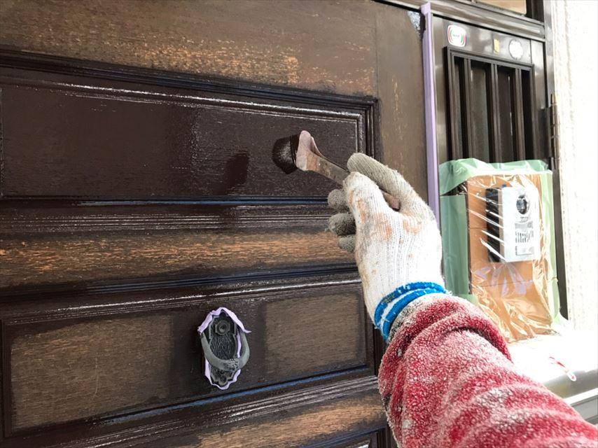多治見市若松町玄関ドア塗り替え