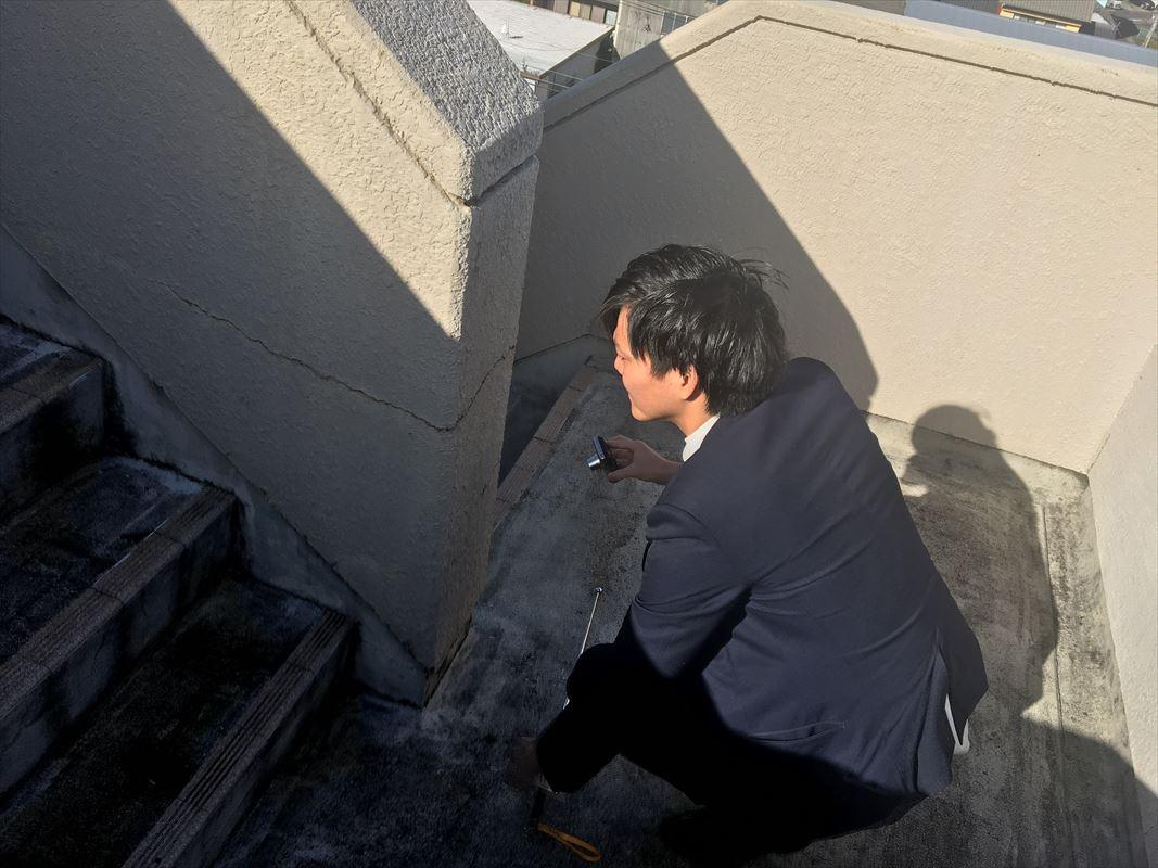 多治見市 マンションの外壁塗装 コンクリート造のひび割れ