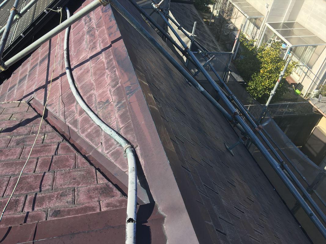 春日井市 屋根の塗り替え 屋根足場