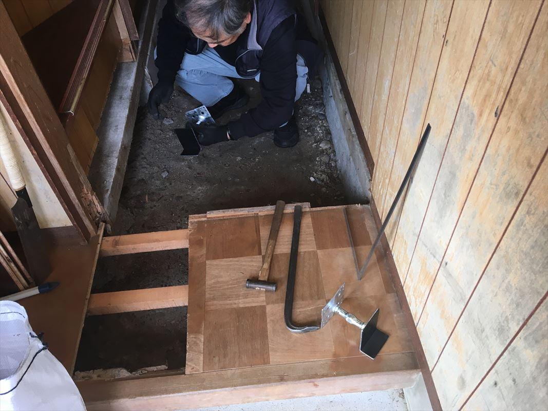 多治見市 床が下がる 床の張り替え 内装リフォーム
