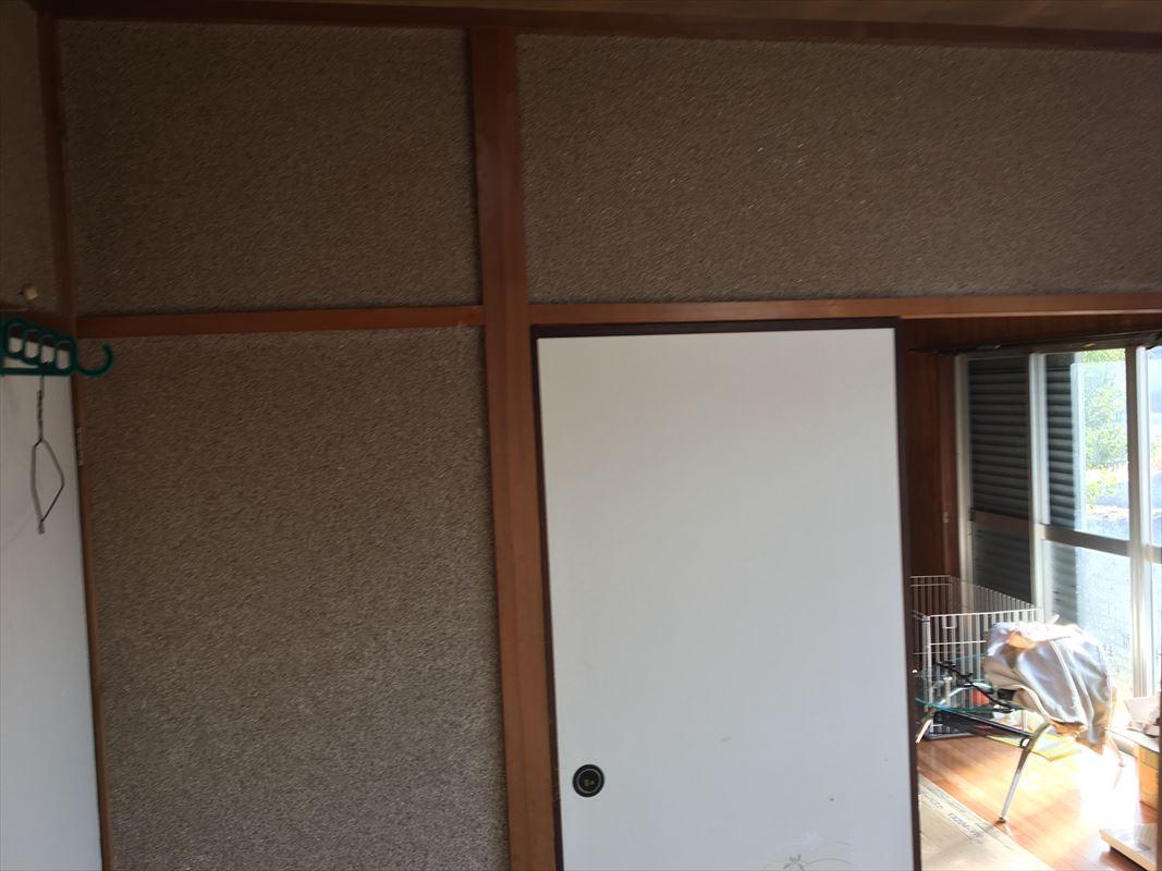 多治見市で和室の繊維壁(土壁)のリフォームです!いろいろなクロスで仕上げました☆