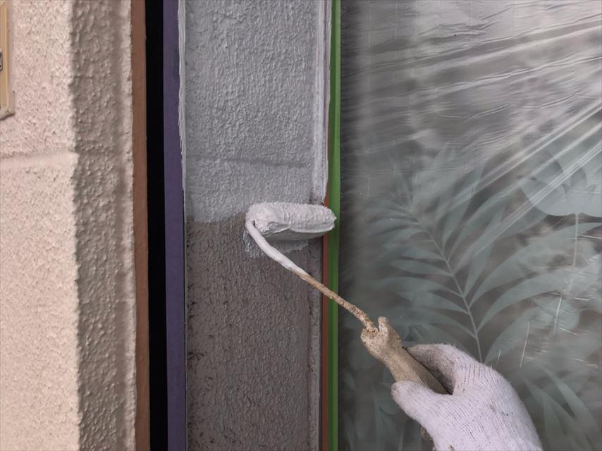 多治見市若松町外壁下塗り