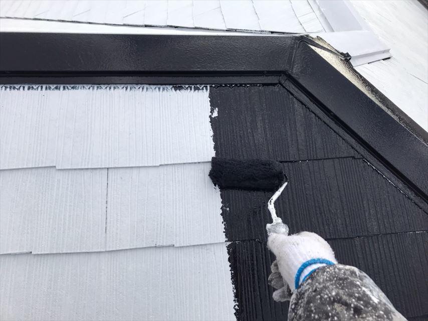 多治見市脇之島町スレート屋根塗り替え