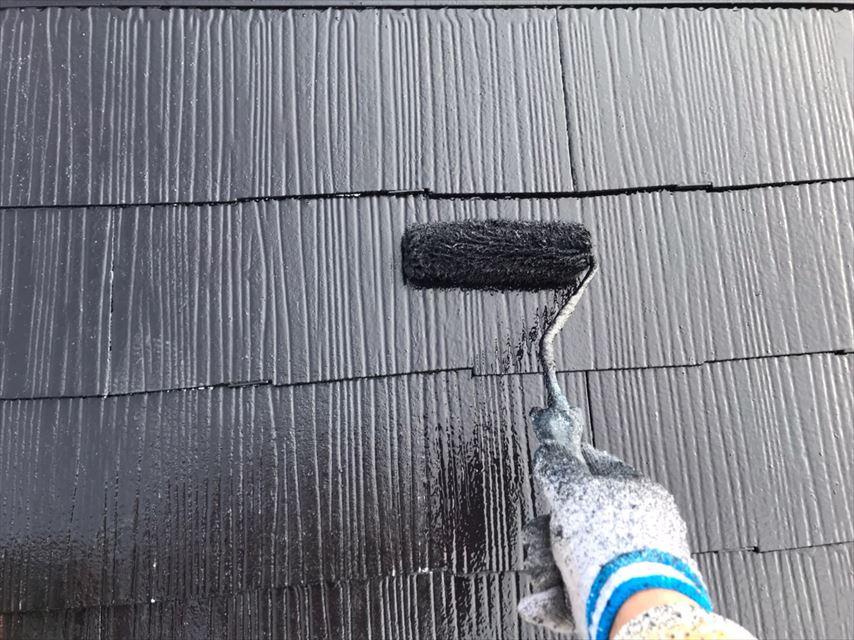多治見市脇之島町屋根上塗り