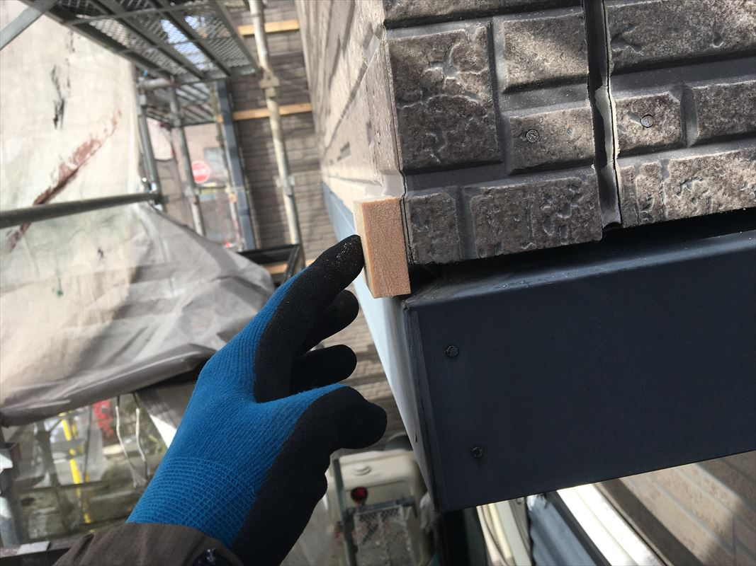 土岐市 外壁塗装 外壁に板金張り 板金工事