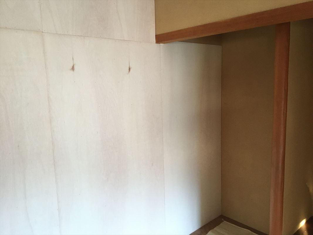 多治見市 土岐市 和室のリフォーム 和室の土壁をクロス貼りに