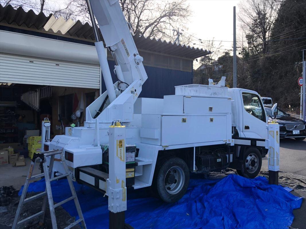 多治見市 作業車の塗装 鉄部の塗り替え 錆止め塗装