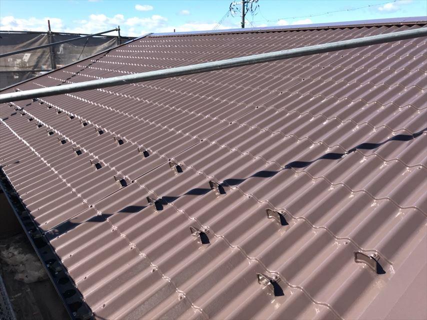 多治見市滝呂町板金屋根遮熱塗装