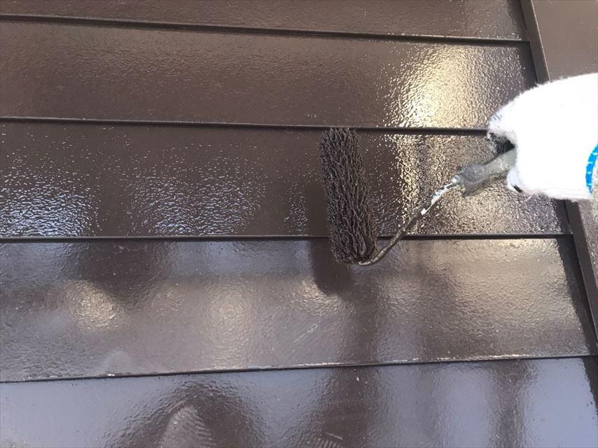 多治見市滝呂町トタン屋根塗り替え