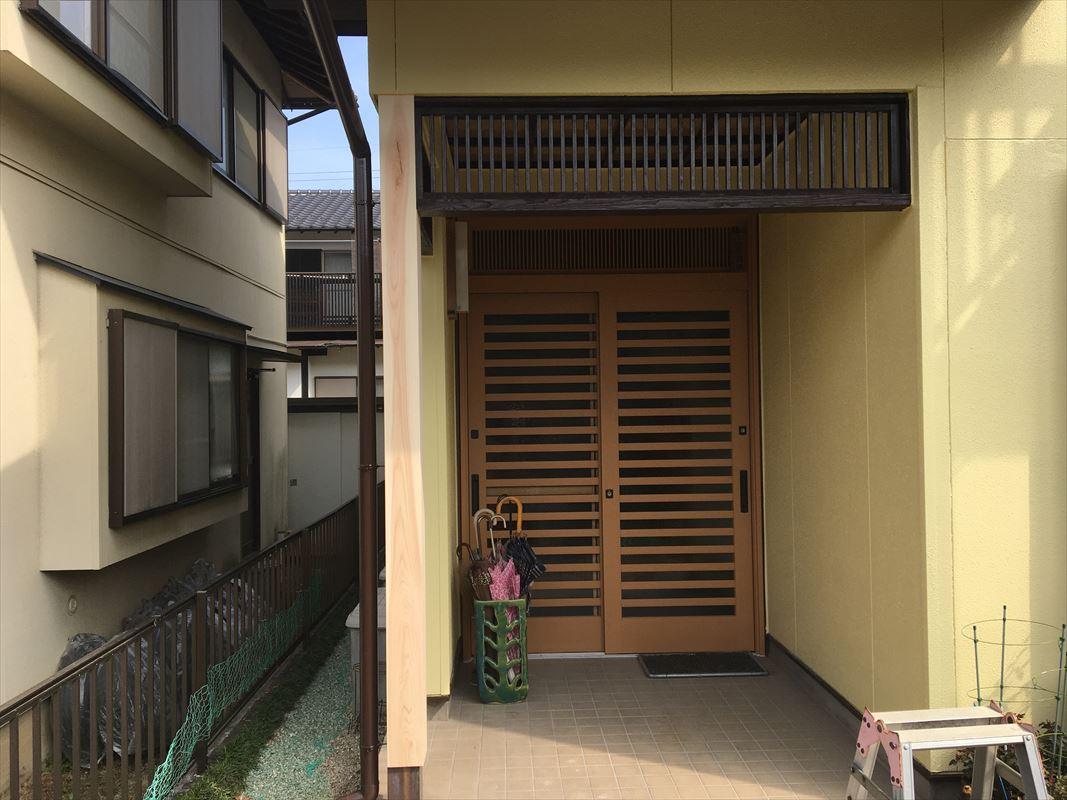 土岐市 外壁塗装 玄関の交換