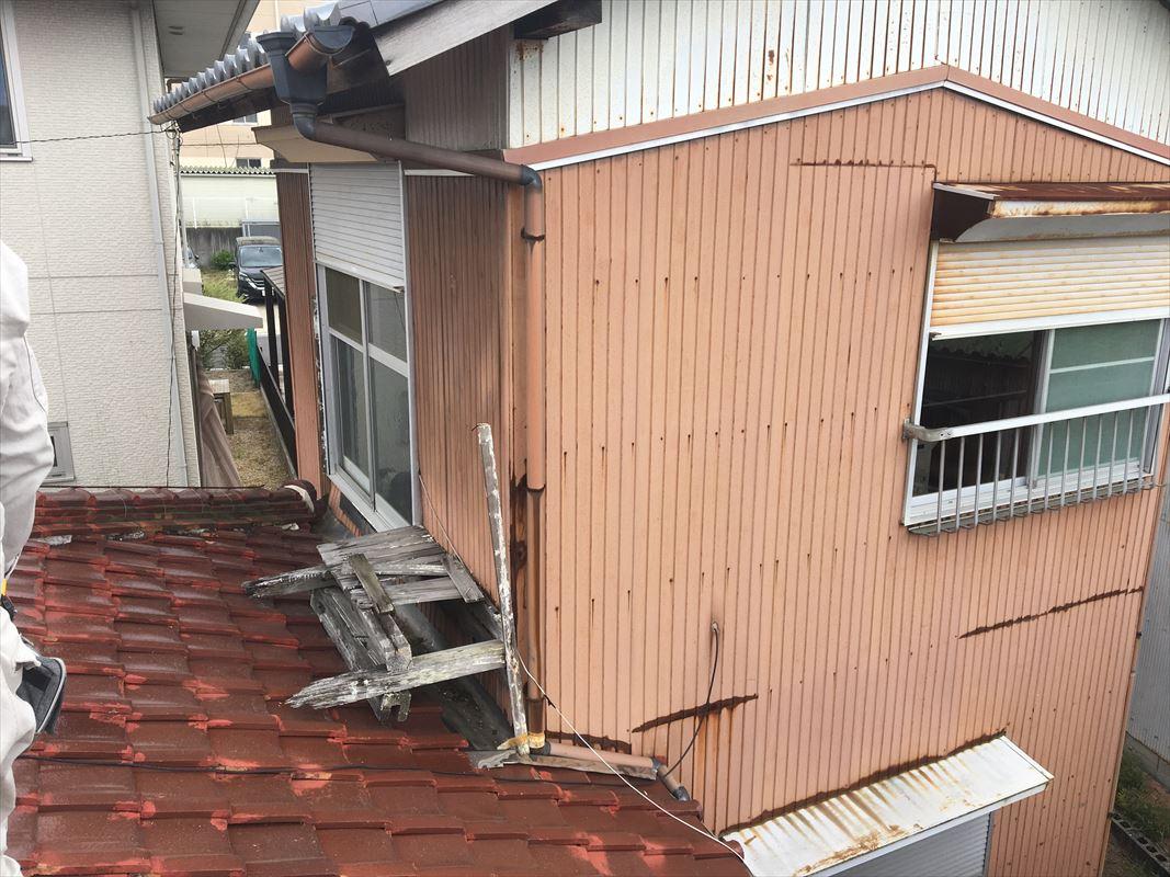多治見市 増築部の雨漏り 屋根の葺き替え