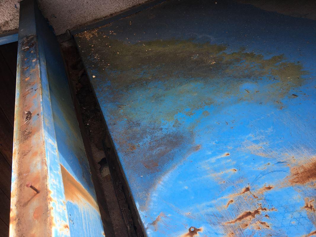 多治見市 玄関上の屋根の工事 雨漏り