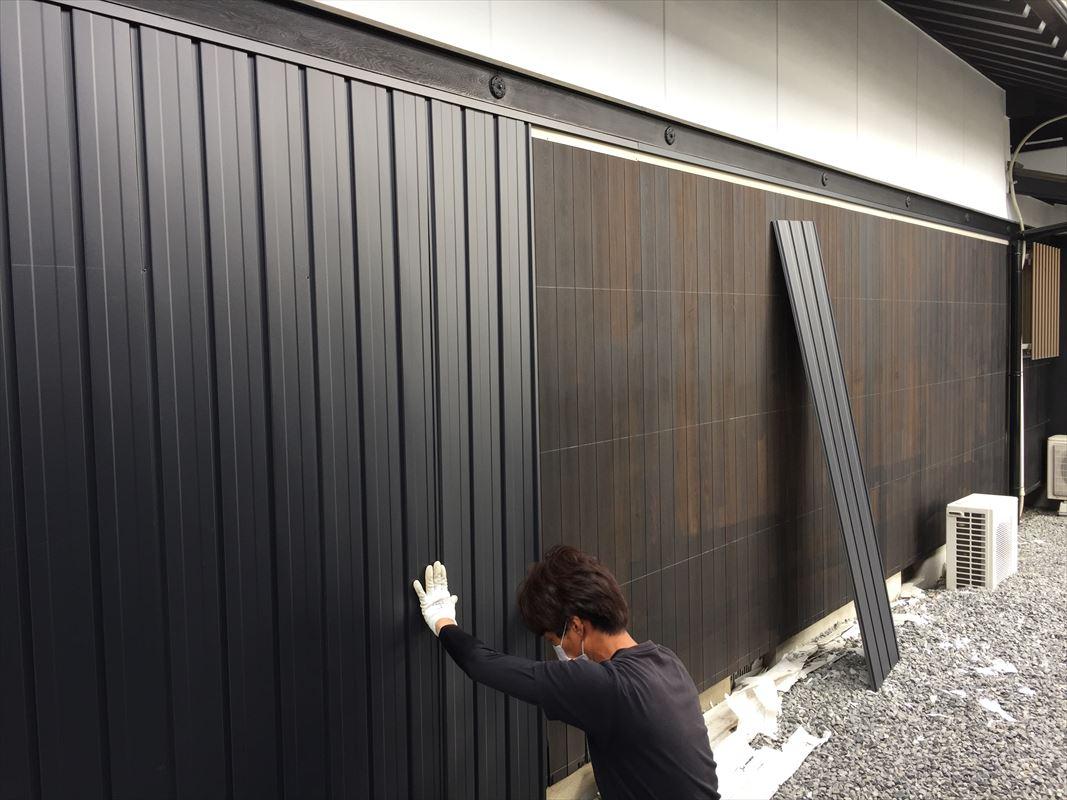 多治見市外壁張り替え ガルバ 金属壁